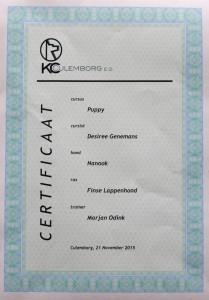 Eerste diploma Nanook